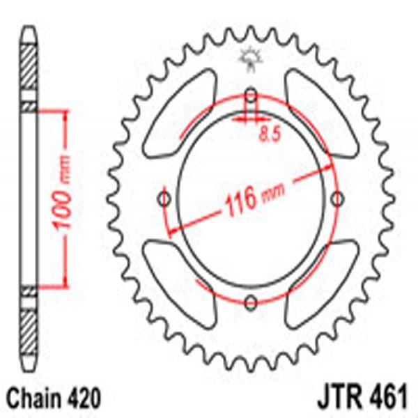Jt Rear Sprockets R/w 461-50