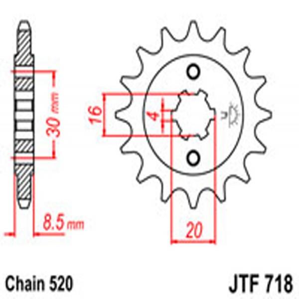 Jt Gear BOX Sprockets G/b 718-13T