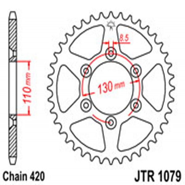 Jt Rear Sprockets R/w 1079-62
