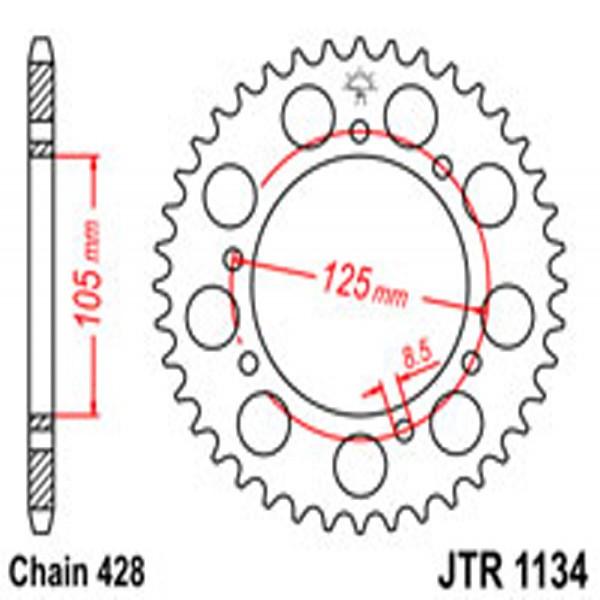 Jt Rear Sprockets R/w 1134-50