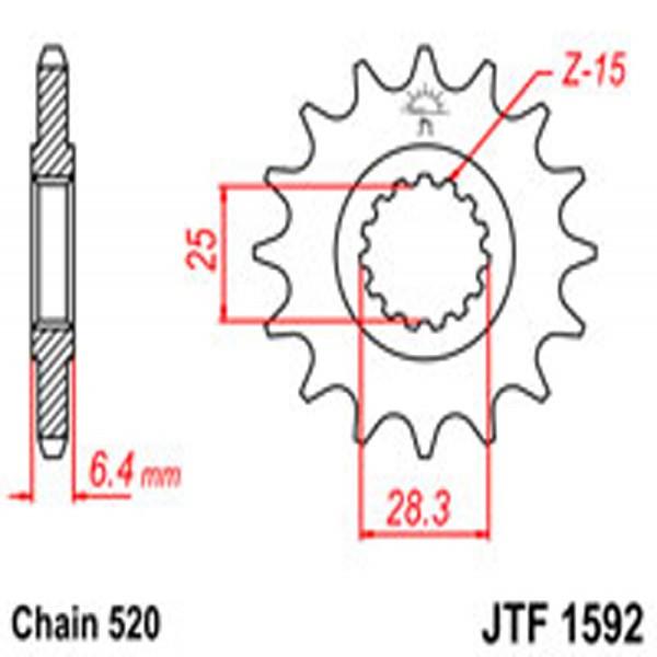 Jt Gear BOX Sprockets G/b 1592-14