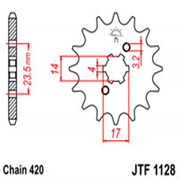Jt Gear BOX Sprockets G/b 1128-14