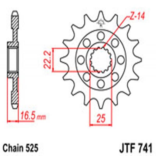 Jt Gear BOX Sprockets G/b 741-15