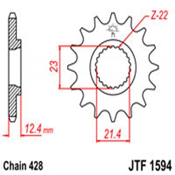 Jt Gear BOX Sprockets G/b 1594-15