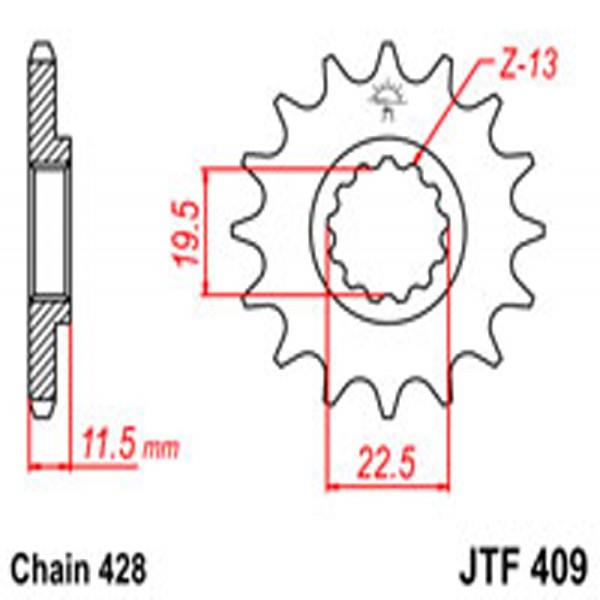 Jt Gear BOX Sprockets G/b 409-14T Suz (4101)