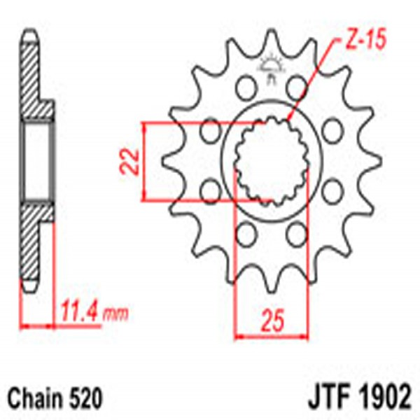 Jt Gear BOX Sprockets G/b 1902-16