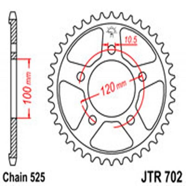 Jt Rear Sprockets R/w 702-42 Aprilia