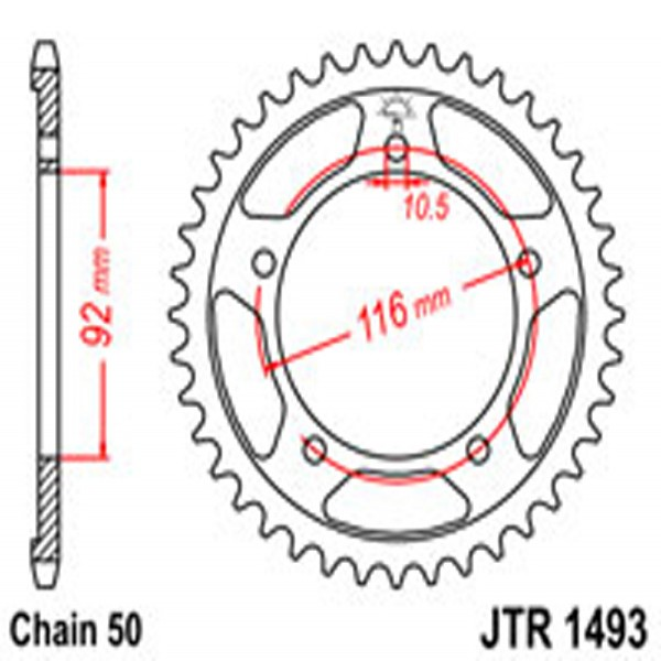 Jt Rear Sprockets R/w 1493-42 Kaw