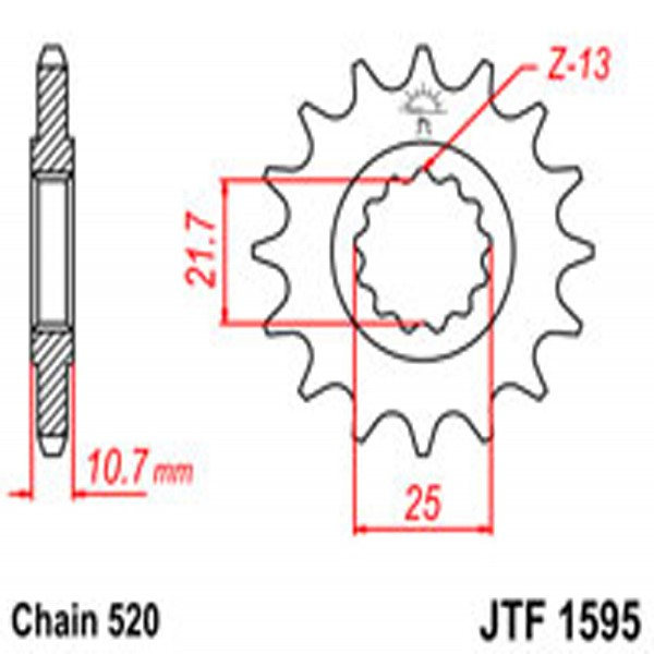 Jt Gear BOX Sprockets G/b 1595-16