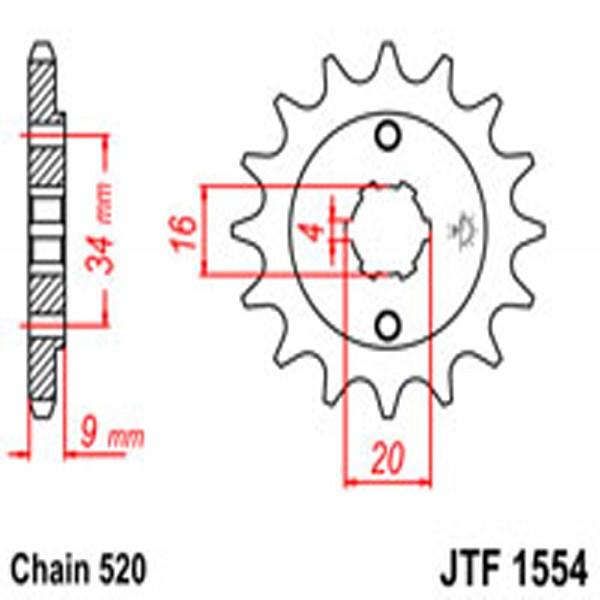 Jt Gear BOX Sprockets G/b 1554-13