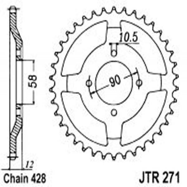 Jt Rear Sprockets R/w 271-50