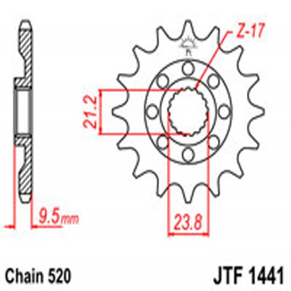 Jt Gear BOX Sprockets G/b 1441Sc-14 Kaw