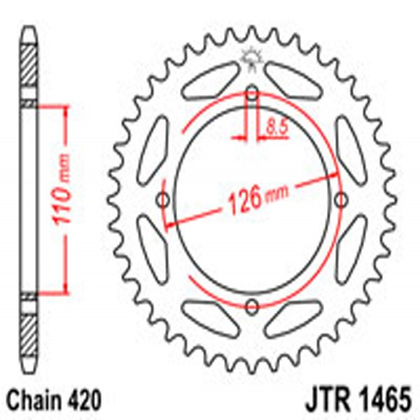 Jt Rear Sprockets R/w 1465-47