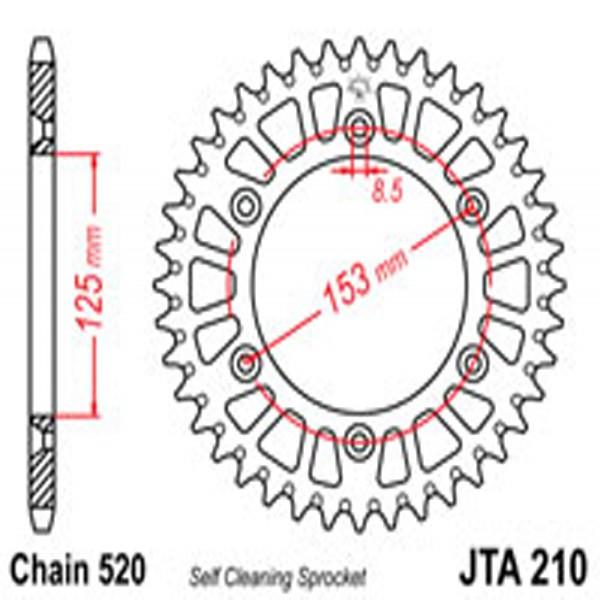 Jt Rear Sprockets R/w 210-51Sc Alloy