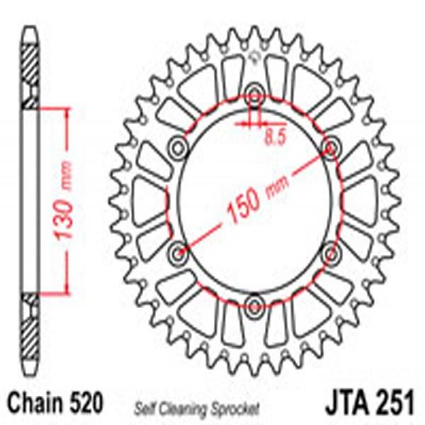 Jt Rear Sprockets R/w 251-51Sc Alloy