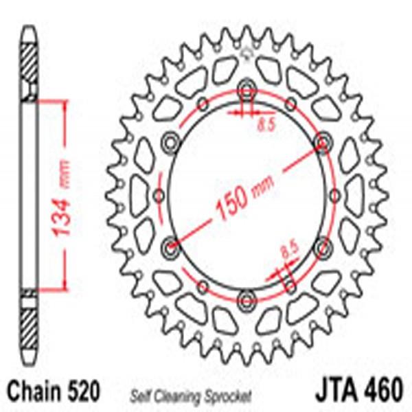 Jt Rear Sprockets R/w 460-49Sc Alloy