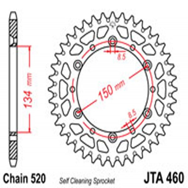 Jt Rear Sprockets R/w 460-51Sc Alloy