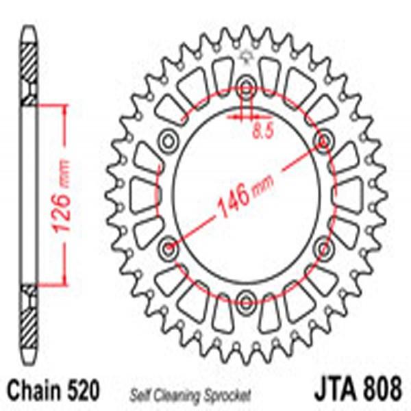 Jt Rear Sprockets R/w 808-51Sc Alloy