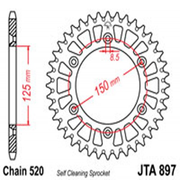 Jt Rear Sprockets R/w 897-49Sc Alloy