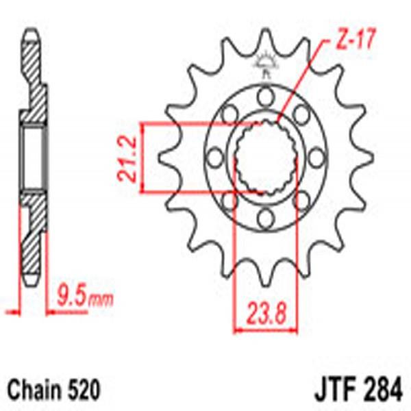 Jt Gear BOX Sprockets G/b 284-14Sc (342)