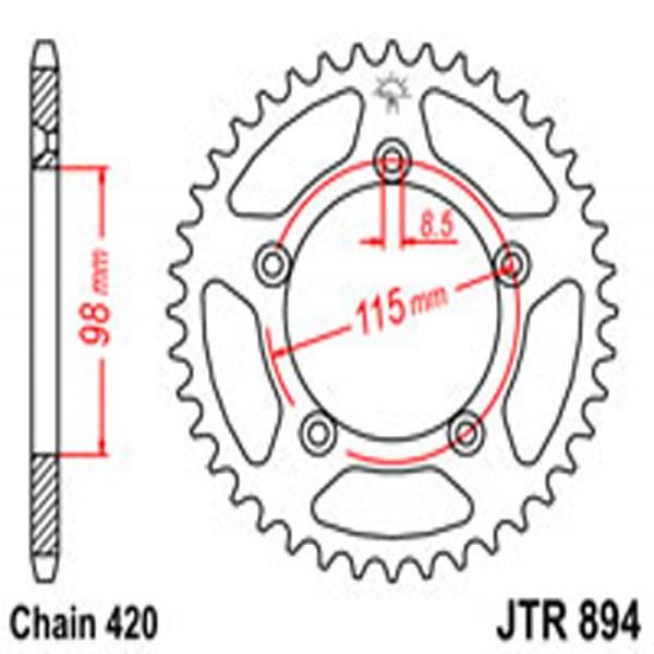 Jt Rear Sprockets R/w 894-48 Husqvarna/ktm