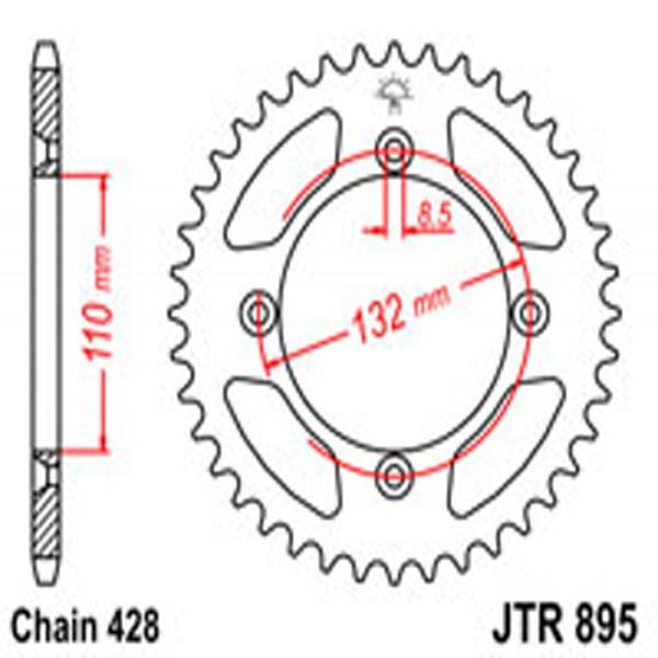 Jt Rear Sprockets R/w 895-46 Husqvarna/ktm