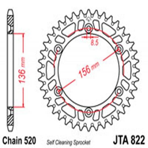 Jt Rear Sprockets R/w 822-50Sc Alloy