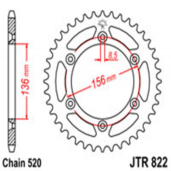 Jt Rear Sprockets R/w 822-50 (820)