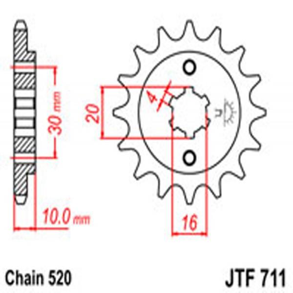 Jt Gear BOX Sprockets G/b 711-14