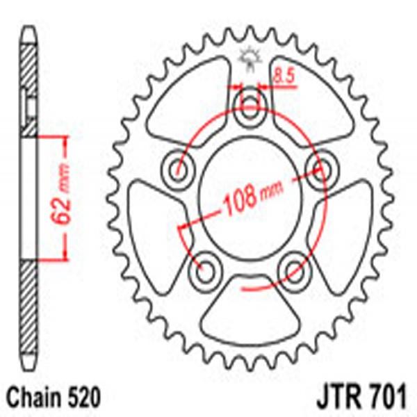 Jt Rear Sprockets R/w 701-40 Aprilia (0714)