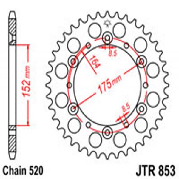 Jt Rear Sprockets R/w 853-43 (856)
