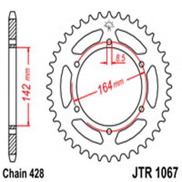 Jt Rear Sprockets R/w 1067-52