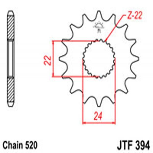 Jt Gear BOX Sprockets G/b 394-16 Aprilia