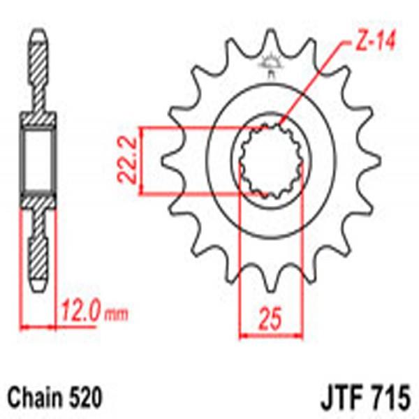 Jt Gear BOX Sprockets G/b 715-12
