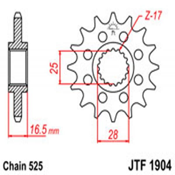 Jt Gear BOX Sprockets G/b 1904-17