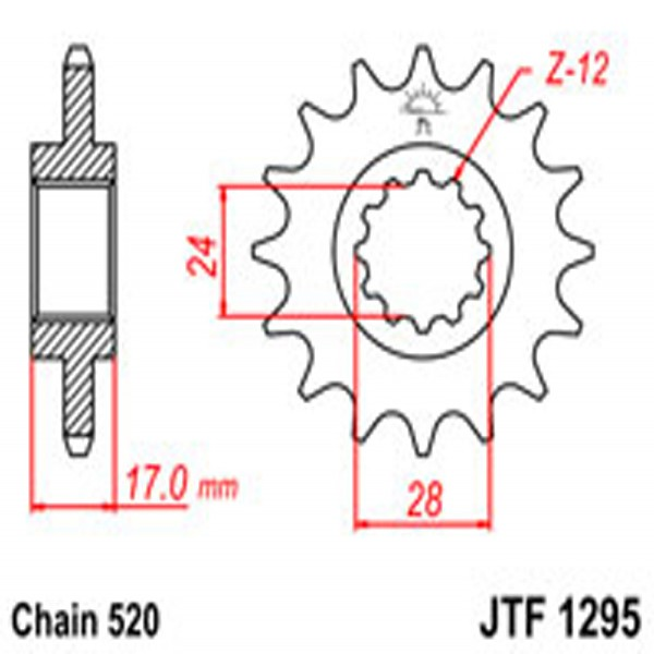 Jt Gear BOX Sprockets G/b 1295/295-14
