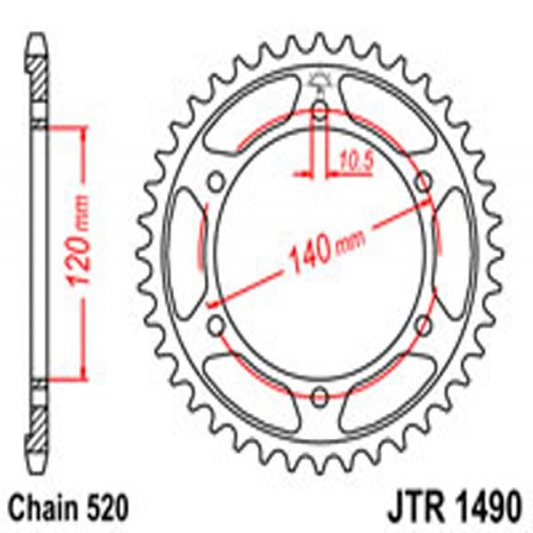 Jt Rear Sprockets R/w 1490-37 Kaw (475)