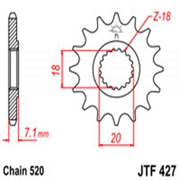 Jt Gear BOX Sprockets G/b 427Sc-13 (432)