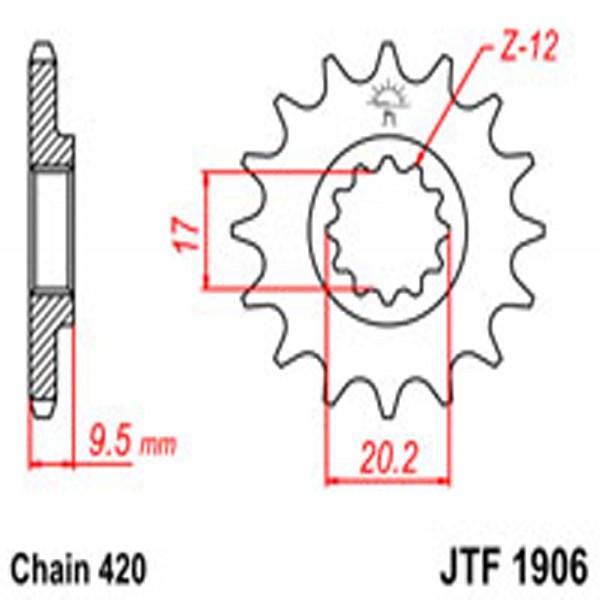 Jt Gear BOX Sprockets G/b 1906-13