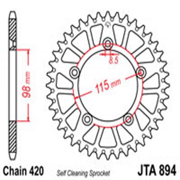 Jt Rear Sprockets R/w 894-46Sc Alloy