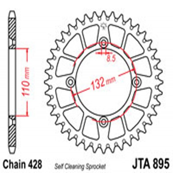 Jt Rear Sprockets R/w 895-48Sc Alloy
