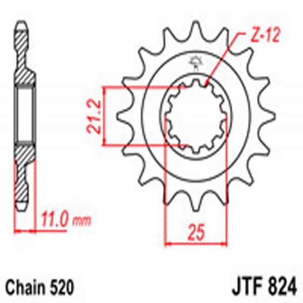 Jt Gear BOX Sprockets G/b 824-17