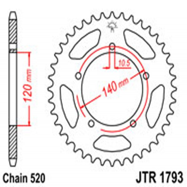 Jt Rear Sprockets R/w 1793-42