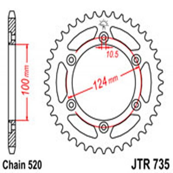 Jt Rear Sprockets R/w 735-40 Ducati