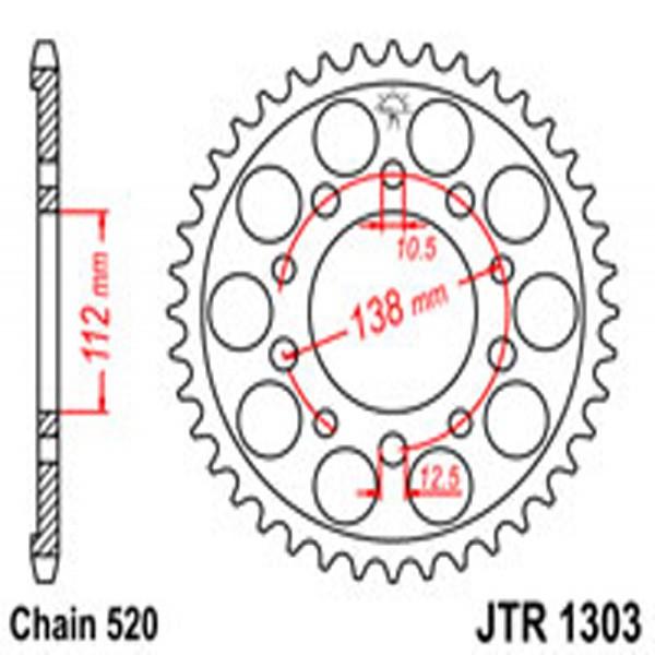 Jt Rear Sprockets R/w 1303-39