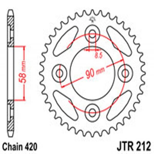 Jt Rear Sprockets R/w 212-34 (4462)