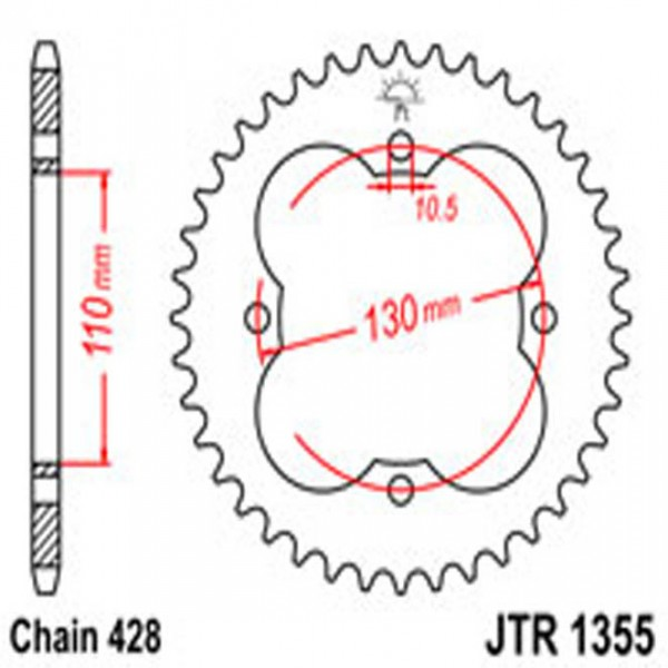 Jt Rear Sprockets R/w 1355-50