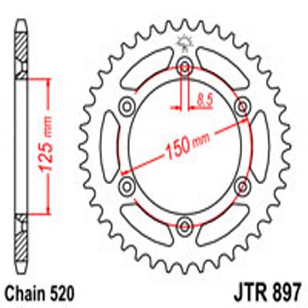 Jt Rear Sprockets R/w 897-38 (899)