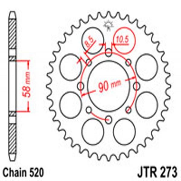 Jt Rear Sprockets R/w 273-45