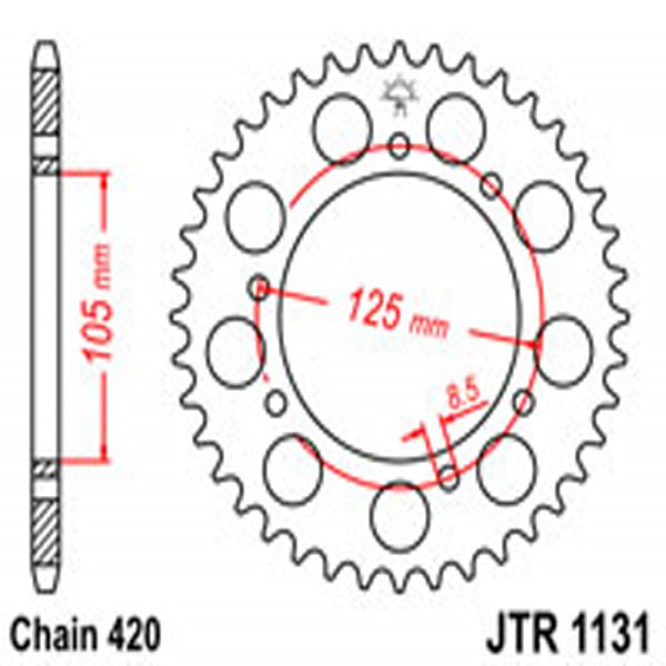 Jt Rear Sprockets R/w 1131-52